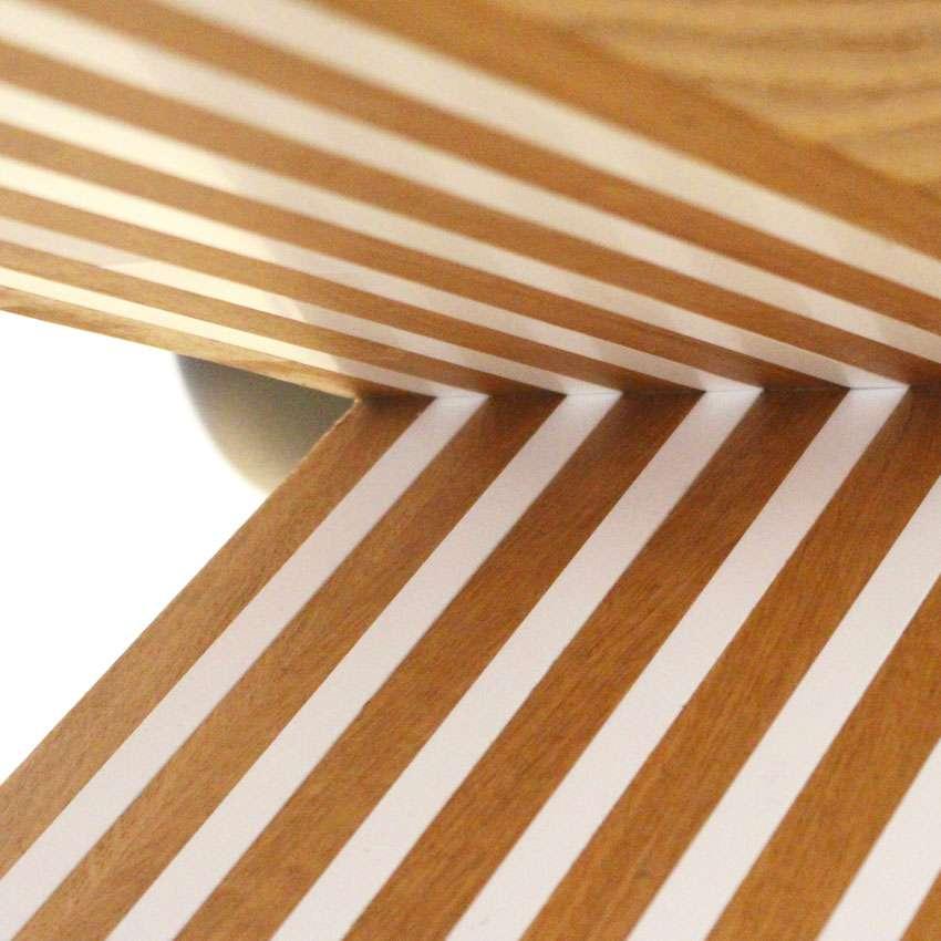 Scherpe lijnen in Himacs en eikenhout