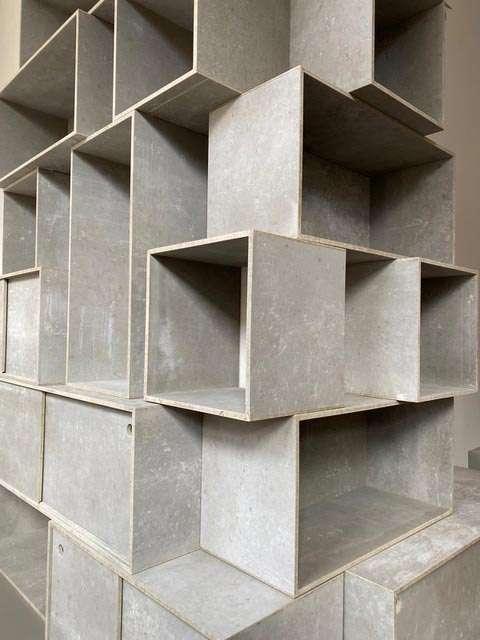 Modulaire kast met betonlook
